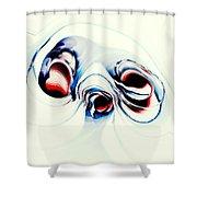 Alien Puppy Shower Curtain by Anastasiya Malakhova