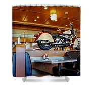 All American Diner 4 Shower Curtain by Bob Christopher