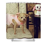 All Dressed Up Shower Curtain by Laurie Search