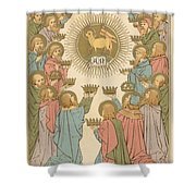 All Saints Shower Curtain by English School