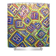 All Six's And Three's Shower Curtain by Sherry Harradence
