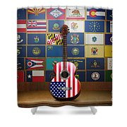 All State Flags Shower Curtain by Bedros Awak