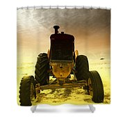 All The Feilds She Plowed Shower Curtain by Jeff Swan