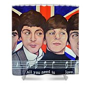 All You Need Is Love  Shower Curtain by Tom Roderick