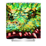 Alligator 20130702 Shower Curtain by Wingsdomain Art and Photography