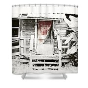 Alligator Bayou Bar Shower Curtain by Scott Pellegrin