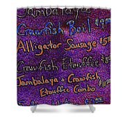 Alligator Sausage For Five Dollars 20130610 Shower Curtain by Wingsdomain Art and Photography