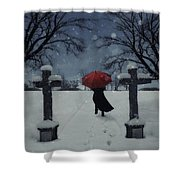 Alone In The Snow Shower Curtain by Joana Kruse