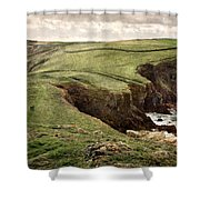 Along The Coast Path Shower Curtain by William Beuther