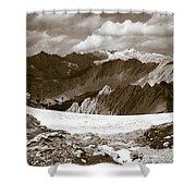 Alpine Landscape Shower Curtain by Frank Tschakert