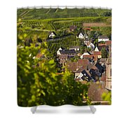 Alsace Morning Shower Curtain by Brian Jannsen