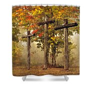 Amazing Grace Shower Curtain by Debra and Dave Vanderlaan
