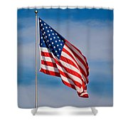 American Flag Shower Curtain by Benjamin Reed