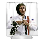 American Icon  Steve Mcqueen Shower Curtain by Iconic Images Art Gallery David Pucciarelli