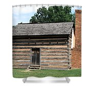 American Log Cabin Shower Curtain by Frank Romeo