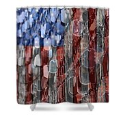 American Sacrifice Shower Curtain by DJ Florek