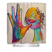 American Sign Language . . .  Mother Shower Curtain by Eloise Schneider