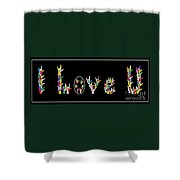 American Sign Language I Love U   Shower Curtain by Eloise Schneider