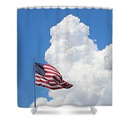 American Sky Shower Curtain by Kume Bryant