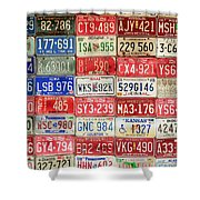 American Transportation Shower Curtain by Steven Bateson