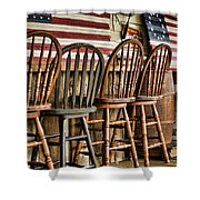 Americana Shower Curtain by Heather Applegate