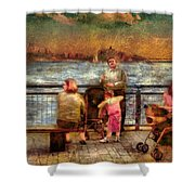 Americana - People - Jewish Families Shower Curtain by Mike Savad