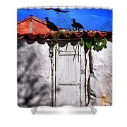 Amigos Negros Shower Curtain by Skip Hunt