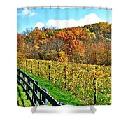 Amish Vinyard Two Shower Curtain by Frozen in Time Fine Art Photography