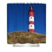Amrum Lighthouse Shower Curtain by Angela Doelling AD DESIGN Photo and PhotoArt