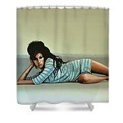Amy Winehouse 2 Shower Curtain by Paul Meijering