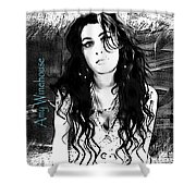 Amy Winehouse Shower Curtain by Barbara Chichester