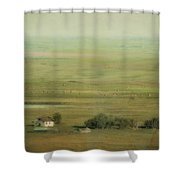 An Abandoned Farmhouse Shower Curtain by Roberta Murray
