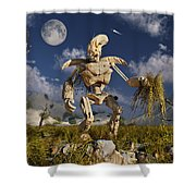 An Advanced Robot On An Exploration Shower Curtain by Stocktrek Images