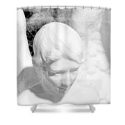 An Angel  Shower Curtain by Toppart Sweden