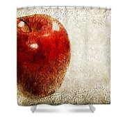 An Apple A Day Shower Curtain by Andee Design