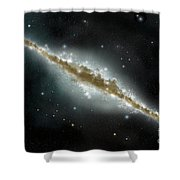An Artists Depiction Of A Large Spiral Shower Curtain by Marc Ward