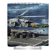 An Mh-60s Sea Hawk Helicopter Picks Shower Curtain by Stocktrek Images