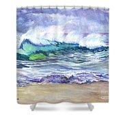 AN ODE TO THE SEA Shower Curtain by Carol Wisniewski