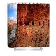 Anasazi Granaries Shower Curtain by Inge Johnsson