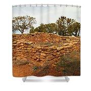 Anasazi Ruins Southern Utah Shower Curtain by Jeff Swan