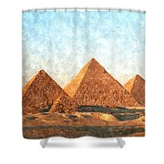 Ancient Egypt The Pyramids At Giza Shower Curtain by Gianfranco Weiss