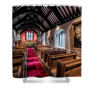 Ancient Welsh Church Shower Curtain by Adrian Evans