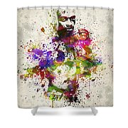 Anderson Silva Shower Curtain by Aged Pixel