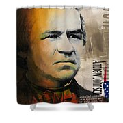 Andrew Johnson Shower Curtain by Corporate Art Task Force