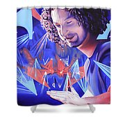 Andy Farag  Shower Curtain by Joshua Morton