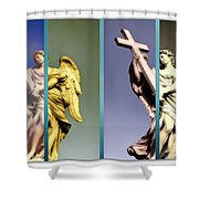 Angel And Supernatural Shower Curtain by Stefano Senise