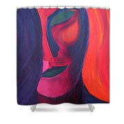 Angel Shower Curtain by Daina White