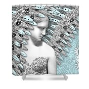 Angelica Hiberna - Angel Of Winter Shower Curtain by Christopher Beikmann