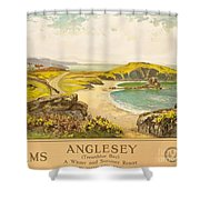 Anglesey Shower Curtain by Henry John Yeend King