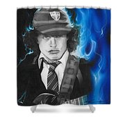 'angus' Shower Curtain by Christian Chapman Art
